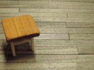 木製床 模型