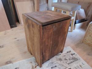 木工作品 ゴミ箱