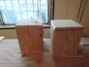 杉材 木工 箱