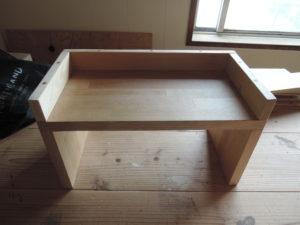 木工作品 鏡の台