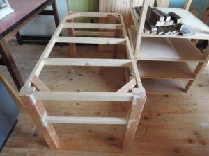 木工 手作りテーブル
