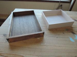 木工 箱 トレー