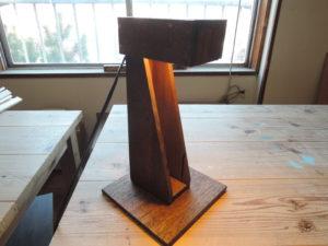 木工作品 ランプ