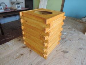 木工 手作り ゴミ箱